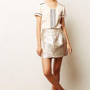 Anthropologie Frosted Tullip Mini Skirt xs