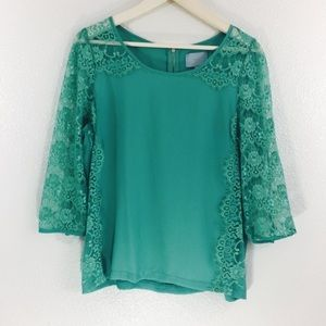 Skies Are Blue Lace Blouse