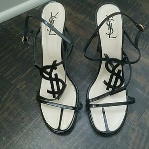 Black YSL heels