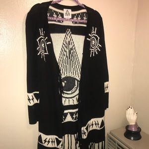 UNIF Psychic Poncho Cardigan Sweater