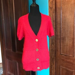 Juicy Couture red cardigan small