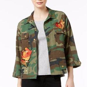 Final Sale❤️ Fair Child Koi Patch Camo Jacket New!