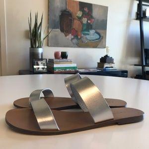 J. Crew - Silver Slide Sandal