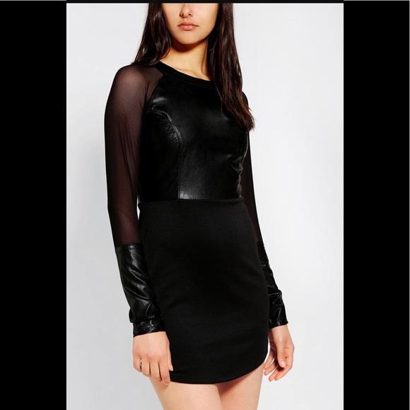 For Love And Lemons Dresses Vegan Leather Dress Poshmark