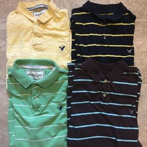 Lot of 4 American Eagle Polos XXL