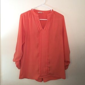 Orange long sleeve dress shirt size XS