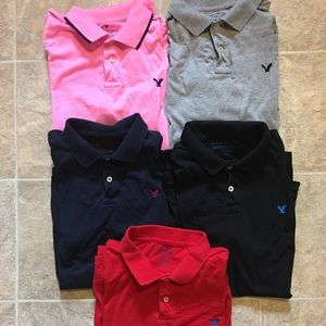 Lot of 5 American Eagle Polos XXL