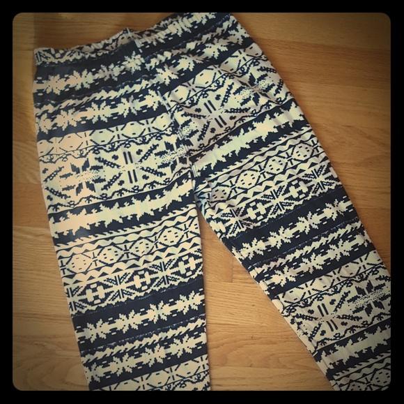 deac63ed48197 always Pants | Butter Winter Fairisle Legging Lularoe Dupe | Poshmark