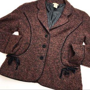 Anthropologie Elevenses Sweater Blazer.