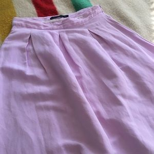 Flared Lavender Linen Skirt