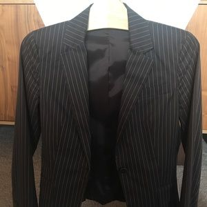 Theory brown stripped blazer