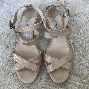 Jimmy Choo wedge sandal - size 36.5, nude
