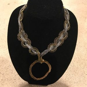 Jewelry - Magnificent gold and silver designer necklace.