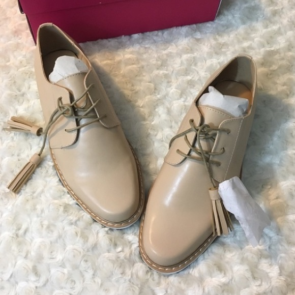 Shoe Dazzle Shoes - Nude Platform Sneaker