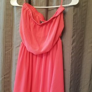 Express Pink Strapless Dress