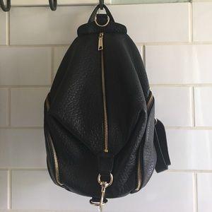 Rebecca Minkoff Black Pebbled Leather Backpack