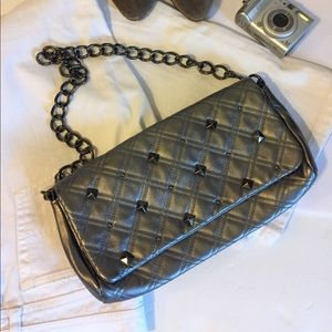 Kate Landry Metallic Quilted Leather Purse (B7)
