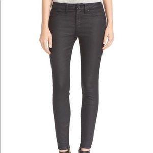Joie Super Skinny Ankle Zip Smoke Jeans Sz. 23
