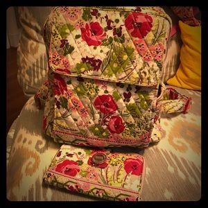 Vera Bradley Backpack & Wallet Set