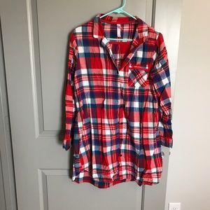 Plaid Nightgown T-Shirt