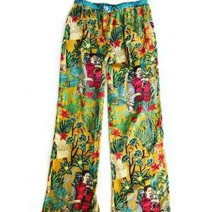 42a04dd002 Karma Living Pants - Frida Kahlo Mexican Bohemian Pijama Cotton Pants