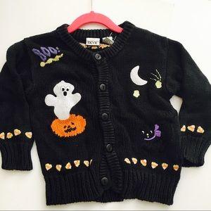 Kids Candy Corn Halloween Cardigan Sweater