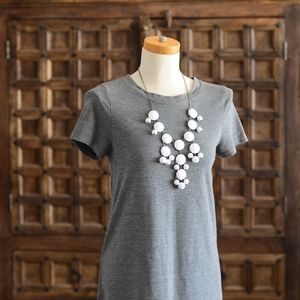 Versatile Gray Short Sleeve Tunic