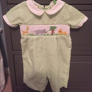 Zoo Smock - 3 months