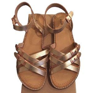 Kelsi Dagger Rose Gold Strappy Gladiator Sandals