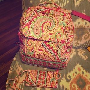 Vera Bradley Backpack & Wallet Set
