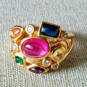 Jewelry - Sterling Silver Gold Plated Ring