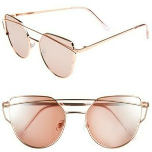 NWT Cat Eye Meets Aviators Rose Gold Sunglasses