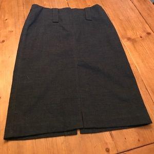 High waisted Pencil wool skirt