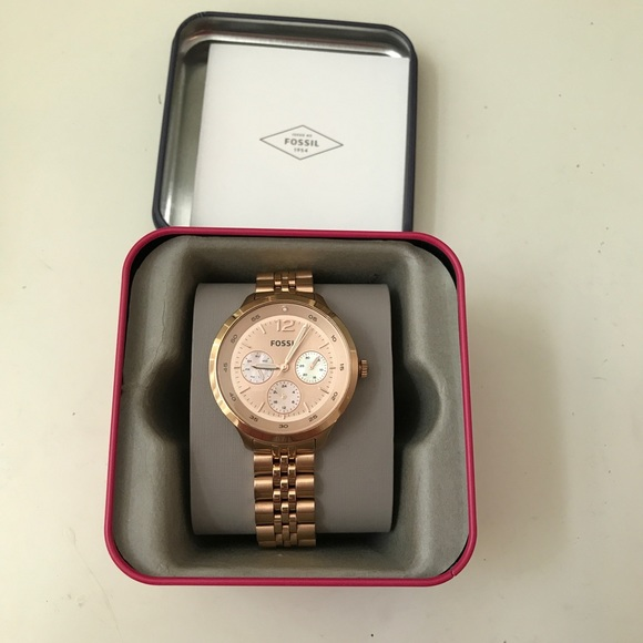 Fossil Accessories - Rose gold fossil watch