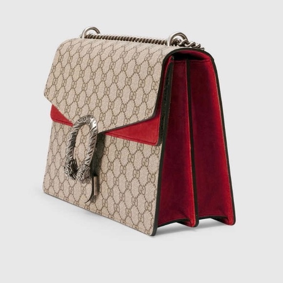 807a8e1f5c7c32 Gucci Bags | Dionysus Gg Supreme Shoulder Bag Red New | Poshmark