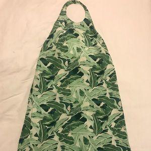 Joie tropical leaf print halter dress
