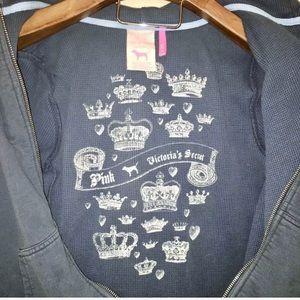PINK Victoria's Secret Tops - PINK Victoria's Secret | Navy Blue Zip Up Hoodie