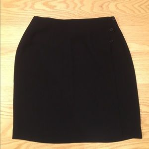 Alfani Black Mini Skirt with Side Buttons - Sz 10