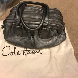 Metallic cole haan purse