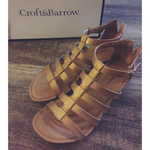 82b2146affcd Croft   Barrow Wedge Gladiator Sandals