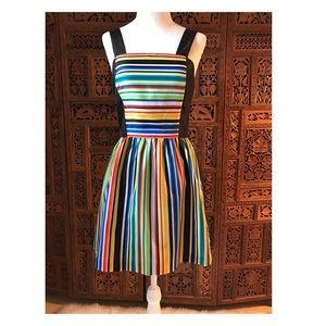 Kensie black stripe dress