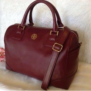 ✨Tory Burch Robinson Burgundy Leather Satchel✨