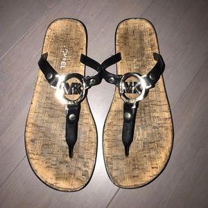 Michael Kors Black Cork Sandals