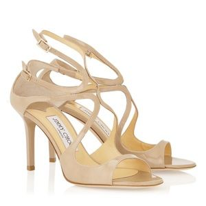Authentic Jimmy Choo Ivette Nude Sandals