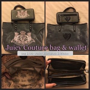 Juicy couture bag and wallet🖤