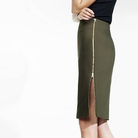 4e8daadf49 Express Skirts | Side Zip Pencil Skirt | Poshmark
