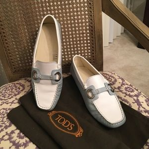 TODS two tone loafers size 36