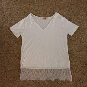 White Lace Piko Shirt