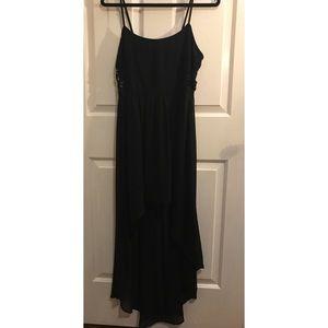 Black High-Low Maxi Dress