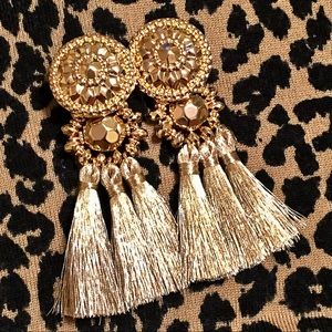 Blogger's Favorite Gold Tassle Earrings